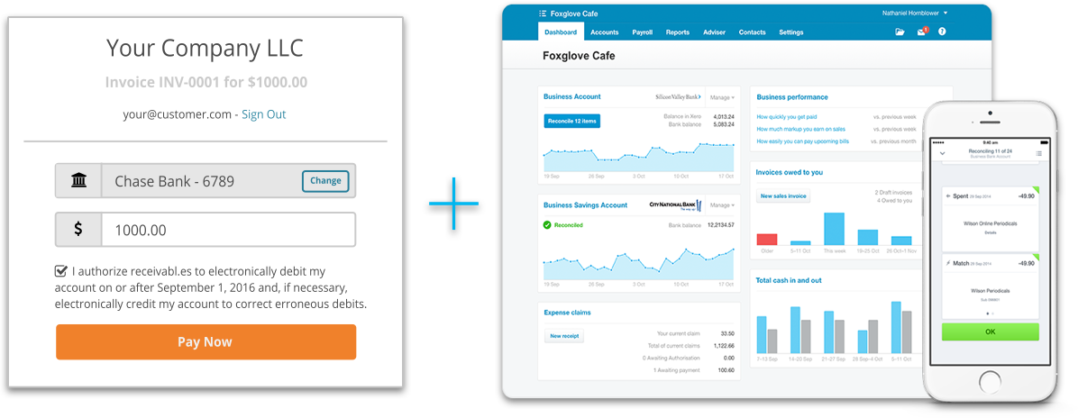 receivabl.es and Xero screenshot
